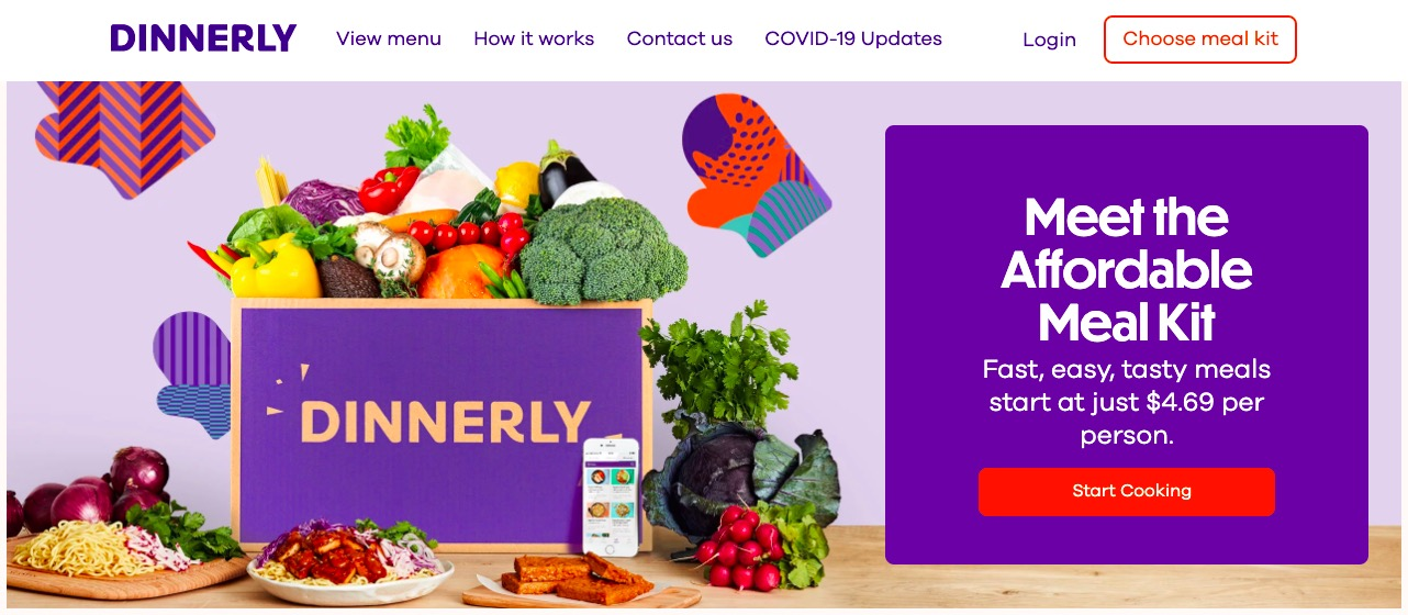 Dinnerly main page