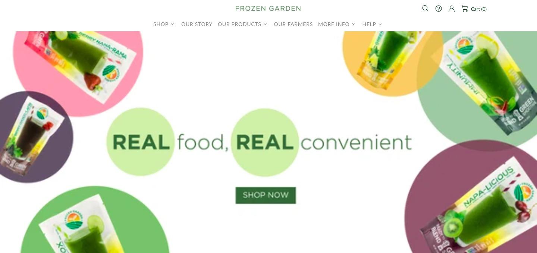 Frozen Garden main page