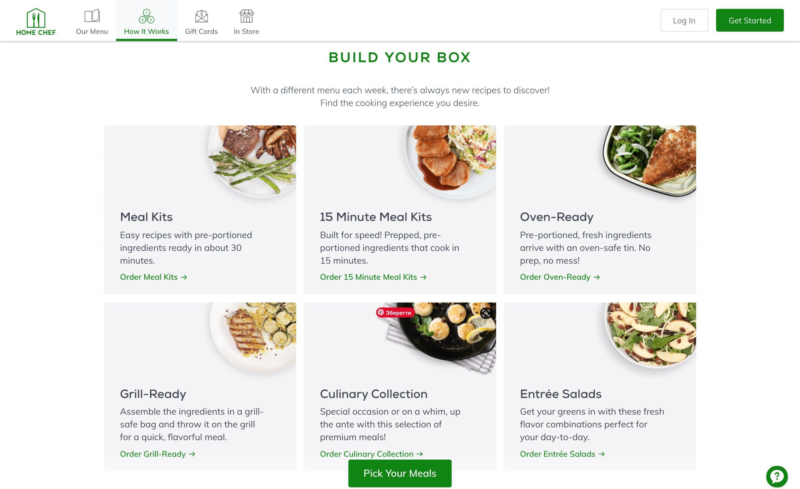 Home Chef build box