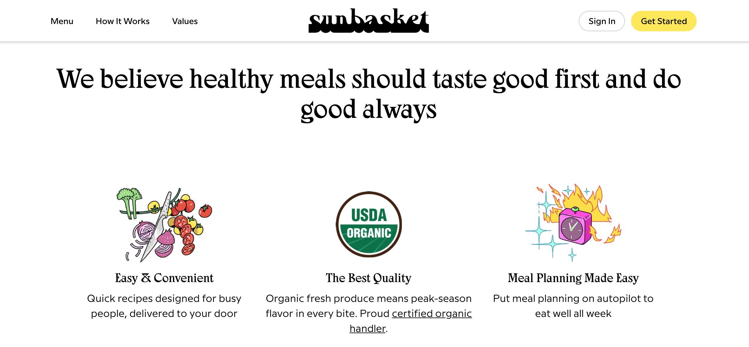 SunBasket features