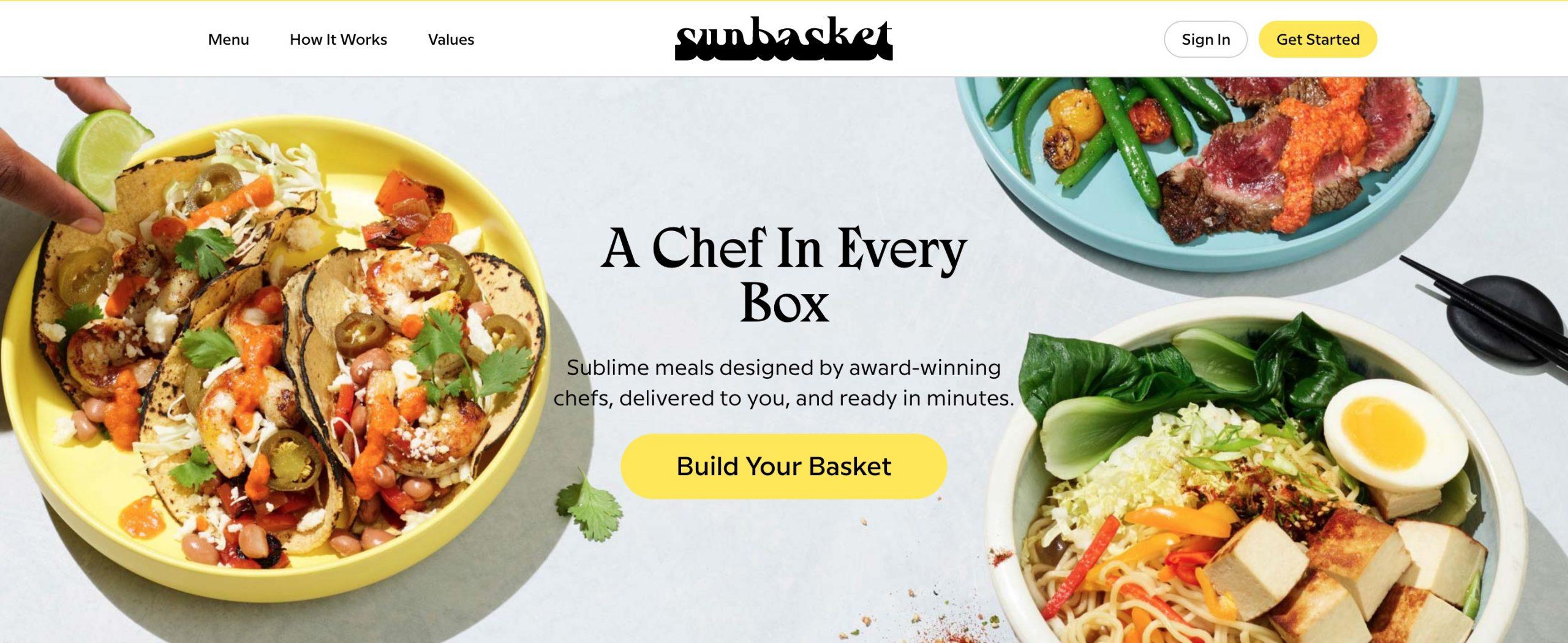 SunBasket main page